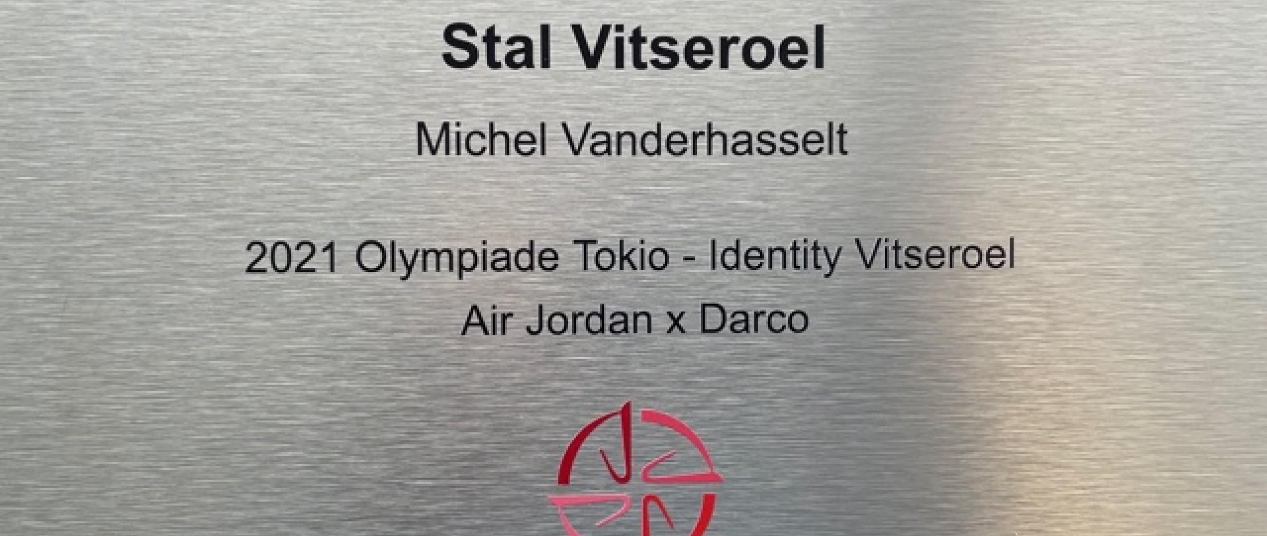 fier de recevoir cette plaque d'écurie olympique du studbook bwp merci Identity Vitseroel et BWP