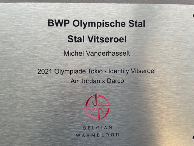 proud to receive this Olympic stable plate from studbook bwp thank you Identity and BWP
